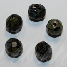 stkb00012-08 about 8 mm, round shape, faceted, colourful, glass bead, 32 pcs.