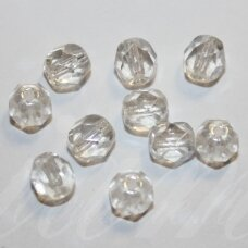 stkb00030/14400-03 about 3 mm, round shape, faceted, transparent, glass bead, about 160 pcs.