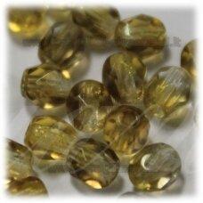 stkb00030/22501-06 apie 6 mm, apvali forma, briaunuotas, skaidrus, rusva spalva, apie 38 vnt.