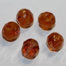 stkb00072-08 apie 8 mm, apvali forma, briaunuotas, skaidrus, marga, stiklinis karoliukas, 32 vnt.
