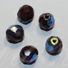 stkb00081-08 apie 8 mm, apvali forma, briaunuotas, ruda spalva, ab danga, 32 vnt.