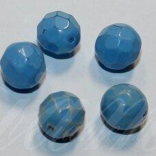 stkb00141-04 apie 4 mm, apvali forma, briaunuotas, melsva spalva, stiklinis karoliukas, 87 vnt.