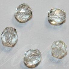 stkb00165-04 apie 4 mm, apvali forma, briaunuotas, skaidrus, gelsvas atspalvis, apie 110 vnt.