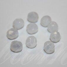 stkb01000-04 apie 4 mm, apvali forma, briaunuotas, stiklinis karoliukas, apie 110 vnt.