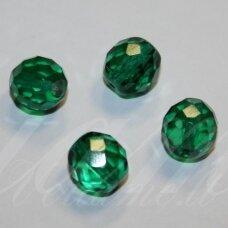 STKB50720-07 apie 7 mm, apvali forma, briaunuotas, skaidrus, elektrinė spalva, stikliniai karoliukai, apie 50 vnt.