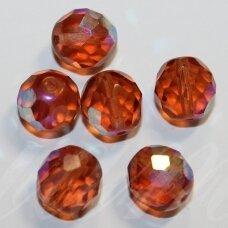 stkb70121-09 apie 9 mm, apvali forma, briaunuotas, šviesi, ruda spalva, ab danga, 22 vnt.