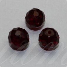 stkb90110-10 apie 10 mm, apvali forma, tamsi, vyšninė spalva, stiklinis karoliukas, 16 vnt. / x 5 pakeliai.
