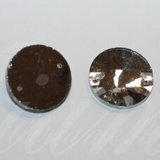 stp0009 apie 18 mm, disko forma, briaunuotas, skaidrus, prisiuvamas, stiklinis kabošonas, 6 vnt.