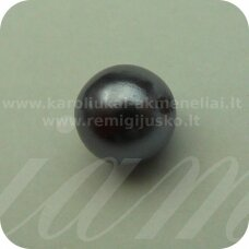 stperl0007-08 apie 8 mm, stiklinis perliukas, pilka spalva, apie 30 vnt.