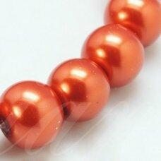 stperl0010-03 apie 3 mm, apvali forma, stiklinis perliukas, vario spalva, apie 150 vnt.