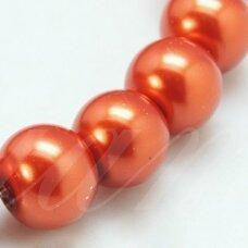 stperl0010-04 apie 4 mm, apvali forma, stiklinis perliukas, vario spalva, apie 180 vnt.
