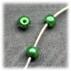 stperl0133-03 apie 3 mm, žalia spalva, apie 300 vnt.