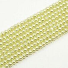 stperl0140-04 apie 4 mm, stiklinis perliukas, šviesi, žalia spalva, apie 200 vnt.