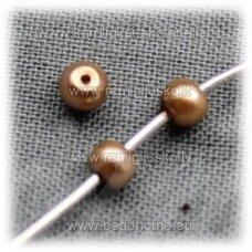 stperl0152-08 apie 8 mm, auksinė spalva, stiklinis perliukas, apie 28 vnt.