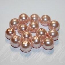 stperl0158-10 apie 10 mm, šviesi, rožinė spalva, apie 15 vnt.