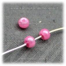 STPERL0159-03 apie 3 mm, rožinė spalva, apie 300 vnt.