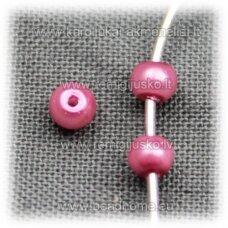stperl0161-03 apie 3 mm, rožinė spalva, stiklinis perliukas, apie 300 vnt.