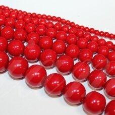 stperl0167-04 apie 4 mm, apvali forma, raudona spalva, apie 180 vnt.