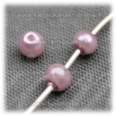 stperl0168-03 apie 3 mm, rožinis atspalvis, stiklinis perliukas, apie 300 vnt.
