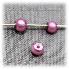 stperl0169-03 apie 3 mm, rožinė spalva, stiklinis perliukas, apie 300 vnt.