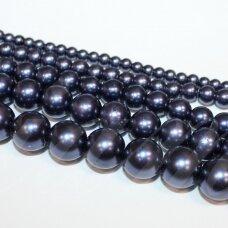 stperl0177-04 apie 4 mm, violetinė spalva, stiklinis perliukas, apie 130 vnt.