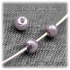 stperl0180-03 apie 3 mm, pilka spalva, stiklinis perliukas, apie 300 vnt.