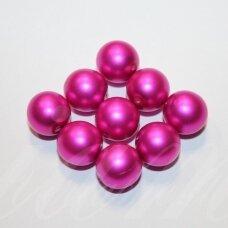 stperl0195-12 apie 12 mm, purpurinė spalva, stiklinis perliukas, apie 9 vnt.