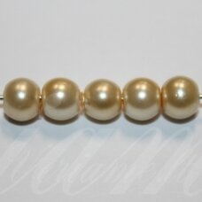 jsstperl0228-10 about 10 mm, round shape, glass pearl, light yellow color, about 80 pcs.