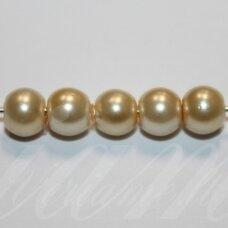 stperl0228-10 apie 10 mm, apvali forma, stiklinis perliukas, gelsva spalva, apie 10 vnt.