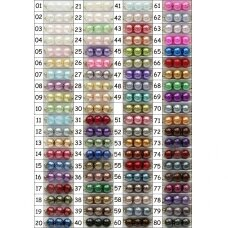stperl0243-06 apie 6 mm, apvali forma, stiklinis perliukas, spalva pavaizduota 43 numeriu, apie 70 vnt.