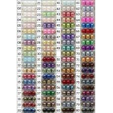 stperl0250-06 apie 6 mm, apvali forma, stiklinis perliukas, spalva pavaizduota 50 numeriu, apie 70 vnt.