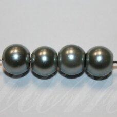 stperl0252-06 apie 6 mm, apvali forma, stiklinis perliukas, spalva pavaizduota 52 numeriu, apie 56 vnt.