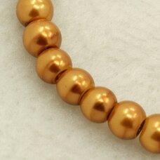 stperl0253-03 apie 3 mm, stiklinis perliukas, auksinė spalva, apie 300 vnt.