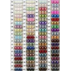 stperl0262-06 apie 6 mm, apvali forma, stiklinis perliukas, spalva pavaizduota 62 numeriu, apie 70 vnt.