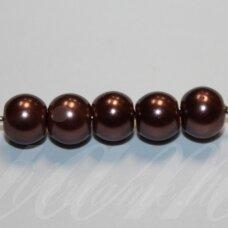 stperl0272-06 apie 6 mm, apvali forma, stiklinis perliukas, apie 58 vnt.