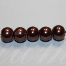 jsstperl0272-08 about 8 mm, round shape, glass pearl, about 100 pcs.