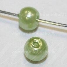 STPERL0326-03 apie 3 mm, apvali forma, salotinė spalva, apie 300 vnt.