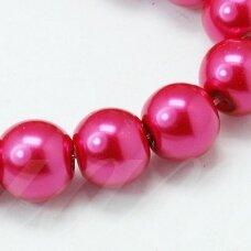 stperl0342-04 apie 4 mm, stiklinis perliukas, tamsi, rožinė spalva, apie 190 vnt.