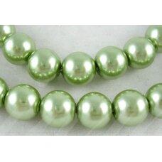 stperl0343-06 apie 6 mm, apvali forma, stiklinis perliukas, samaninė spalva, apie 54 vnt.