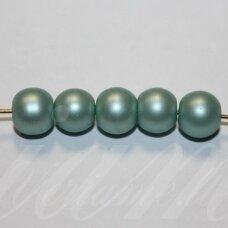 stperl0355-12 apie 12 mm, apvali forma, stiklinis perliukas, elektrinė spalva, apie 9 vnt.