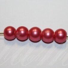 stperl0356-10 apie 10 mm, apvali forma, stiklinis perliukas, rožinė spalva, apie 10 vnt.