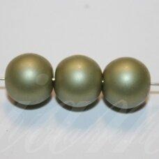 stperl0367-12 apie 12 mm, stiklinis perliukas, samaninė spalva, 9 vnt.