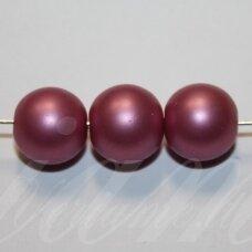stperl0368-12 apie 12 mm, stiklinis perliukas, šviesi, alyvinė spalva, 9 vnt.