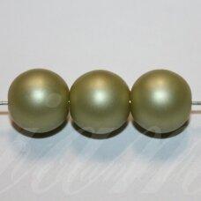 stperl0369-12 apie 12 mm, stiklinis perliukas, samaninė spalva, 9 vnt.