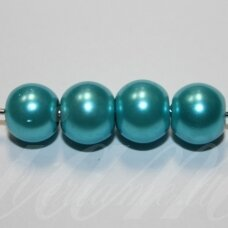 jsstperl0375-08 about 08 mm, glass pearl, light blue color, about 100 pcs.