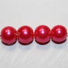 jsstperl0376-08 about 08 mm, glass pearl, bright, pink color, about 100 pcs.