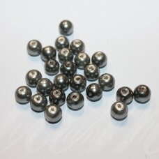 stperl0382-10 about 10 mm, round shape, grey color, 10 pcs.