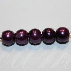 STPERL0385-08 apie 8 mm, stiklinis perliukas, šviesi, violetinė spalva, apie 28 vnt.
