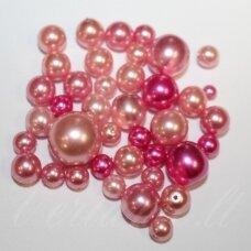 stperlmix5 įvairių formų, įvairių dydžių ir spalva stiklinių perliukų mišinys, 200 g.