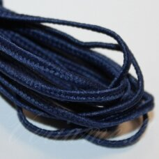 STZ0002 apie 2.5 mm, mėlyna spalva, sutažo juostelė, 5 m.